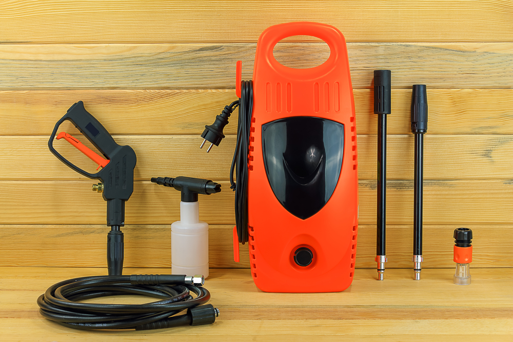 A complete set of pressure washer parts makes cleaning almost anything possible